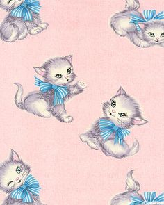 Aries F not conformed to the pattern of the 21 century - Vintage stuff. And donuts. I do not own anything unless stated otherwise. Cute Images, Cute Pictures, Kitten Drawing, Cat Site, Vintage Wrapping Paper, Wrapping Papers, Lots Of Cats, Vintage Cat, Vintage Stuff