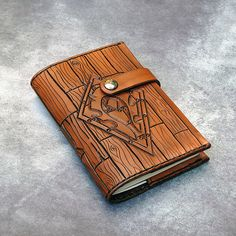 Horde Hand Tooled Leather Refillable Notebook by LudoModernLeather