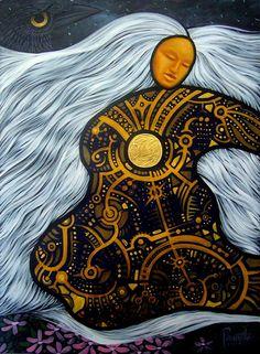 Creation of the earth Aaron Paquette Native American Paintings, Native American Artists, Claudia Tremblay, Divine Feminine, Sacred Feminine, American Indian Art, Indigenous Art, Aboriginal Art, Native Art
