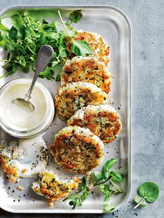 tarragon crab cakes with aioli / donna hay magazine Fish Recipes, Seafood Recipes, Appetizer Recipes, Cooking Recipes, Healthy Recipes, Appetizers, Veggie Recipes, Dessert Recipes, Seafood Dishes