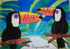 Toucan artwork Primary School Art, Middle School Art, South American Art, Animal Art Projects, 2nd Grade Art, Ecole Art, School Art Projects, Kindergarten Art, Art Lessons Elementary