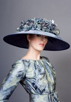 Fine straw hat with silk hand made roses