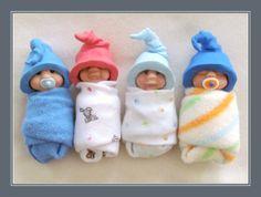 Custom Polymer Clay Baby Elf Doll with Hat  by joycesclay on Etsy, $24.00