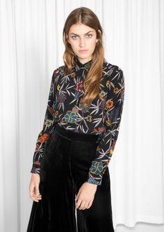 & Other Stories image 2 of Gardenia Silk Shirt in Black