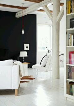 Love the white wood floors