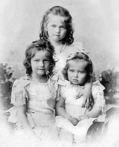 Grand Duchesses Olga, Tatiana, and Marie in an official portrait taken in 1901.