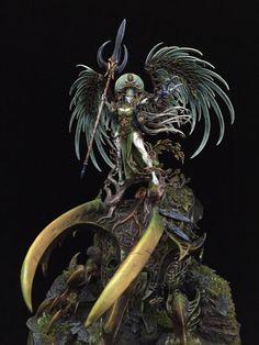 Warhammer Fantasy, Warhammer Wood Elves, Warhammer Paint, Warhammer 40k, Stormcast Eternals, Fantasy Figures, Wood Elf, Tabletop Rpg, Figurative Art