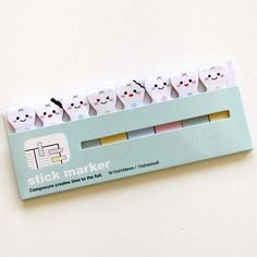 Teeth Sticky Notes / Stick Marker by pikwahchan on Etsy