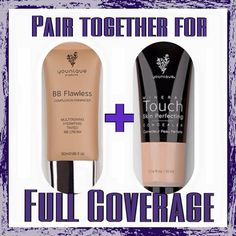 When mixed together, Younique's BB Cream and Concealer are an incredible duo!