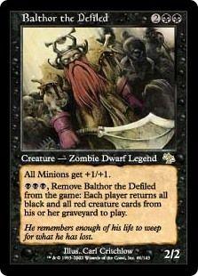 Balthor the Defiled Zombie Dwarf Legend MTG