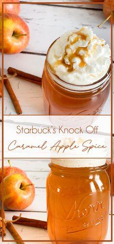 Starbucks Caramel Apple Spice Recipe Caramel Apple Spice Recipe, Starbucks Caramel Apple Spice, Spiced Apples, Caramel Apples, Starbucks Recipes, Spices, Fruit, Ideas, Food