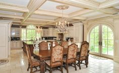 Real Housewives star Melissa Gorga lists New Jersey mansion after rows with Teresa Guidice Melissa Gorga House, Tuscan Dining Rooms, Mega Mansions, Elegant Dining, Real Housewives, Estate Homes, New Jersey, Decorating Your Home, Decorating Ideas