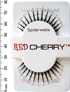Red Cherry Spiderweb false lashes! Perfect for halloween! $6.50!