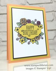 Happy Birthday Gorgeous, Pretty Label punch, Stampin' Up!, Brian King