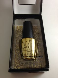 Fierce Makeup and Nails: OPI: The Man with the Golden Gun (18K Real Gold Top Coat)