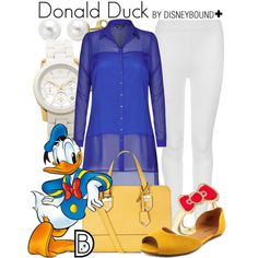 Donald Duck+ by leslieakay on Polyvore featuring City Chic, M&S Collection, Nine West, Michael Kors, Lord & Taylor, disney and disneybound