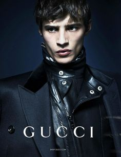Adrien Sahores and Abbey Lee Kershaw join force for the new Gucci campaign shot for the fall winter 2013 season by the famed Mert and Marcus. Male Fashion Trends, Gucci Fashion, Mens Fashion, Daily Fashion, Fashion Brand, High Fashion, Winter Fashion, Gucci Models, Male Models