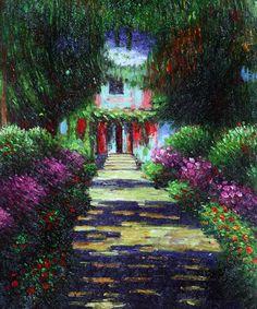 Garden Path at Giverny � Claude Monet