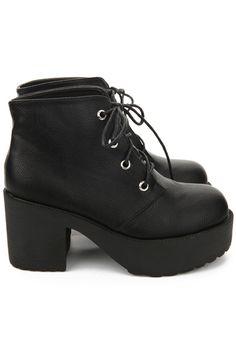 Tied Black Platform Ankle Boots Platform Ankle Boots 1364b9ff2e5c