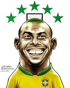 """Ronaldo Maior artilheiro das Copas, o Fenômeno foi o destaque da conquista do penta em 2002 - com direito a corte """"Cascão"""" no cabelo."""