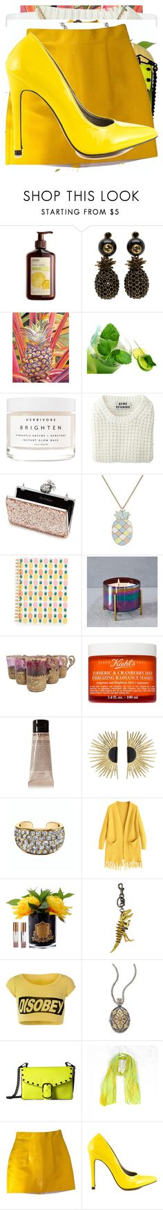 """Pineapple"" by knmaem ❤ liked on Polyvore featuring Ahava, Gucci, Herbivore, Acne Studios, Miss Selfridge, Paul & Joe, West Elm, Kiehl's, Grown Alchemist and Aurélie Bidermann"