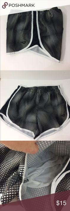 Pony running shorts Pony running shorts with built in underwear. UIGC. Has elastic waste and a drawstring. Black, white and grey. Pony Shorts