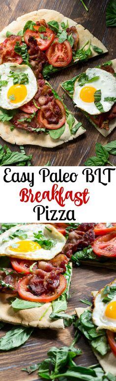 Easy Paleo BLT Breakfast Pizza Recipe with Cassava Flour Paleo Cassava Flour Recipes
