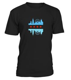 # Chicago Skyline Flag T-Shirt - Windy .   Stroll down the Magnificent Mile in this awesome Chicago Illinois skyline tee. We love the windy city! This skyline features Navy Pier Ferris Wheel, Sears Tower, and The Hancock beaming over the Cool Downtown Chicago scene with a distressed Lake Michigan  *** IMPORTANT *** These shirts are only available for a LIMITED TIME, so act fast and order yours now!TIP: SHARE it with your friends, buy 2 shirts or more and you will save on shipping.
