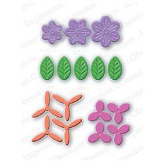 """Шаблонът на Impression Obsession """"Layered Floral Set""""  е от вида тънки метални шаблони."""
