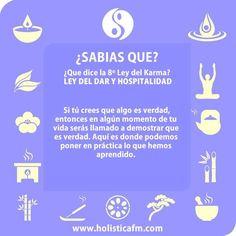 leyes del karma 8 Chakras, Reiki, Yoga For Balance, Spiritual Words, Spiritus, Life Rules, Photo Quotes, Some Words, Amazing Quotes