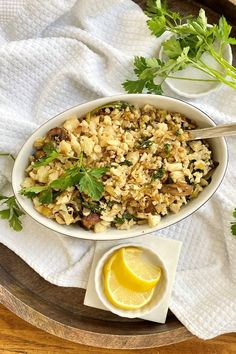 This easy cauliflower rice pilaf recipe is a delicious and versatile side dish. It's keto friendly, gluten free, and vegan too. #cauliflowerricepilaf #cauliflowerrice #cauliflowerriceeasy #cauliflowersidedish