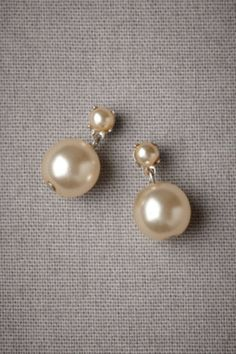 Paired Pearl Earrings