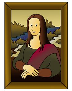 How to Draw The Mona Lisa= cartoon