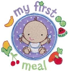First Timer 7 Applique, First Meal - 2 Sizes! | Baby | Machine Embroidery Designs | SWAKembroidery.com Bunnycup Embroidery