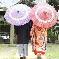 和傘を使って撮る素敵な前撮り写真まとめ | marry[マリー]