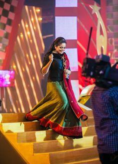 Kavya madhavan Party Wear Indian Dresses, Indian Outfits, Ethnic Fashion, Indian Fashion, Long Skirt And Top, Indian Skirt, Churidar Designs, Indian Actress Hot Pics, Kurta Neck Design