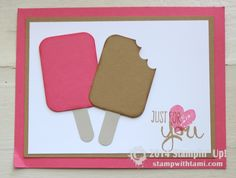 CARD: Summertime Ice Cream Popsicles #stampinup