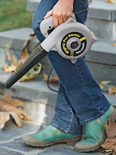 Compact and lightweight leaf blower | Solutions.com #LeafBlower #Garden #Outdoors $39.98