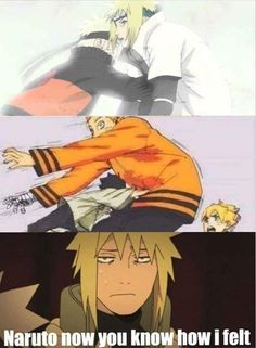 #Naruto meets his father#Now himawari#LOL
