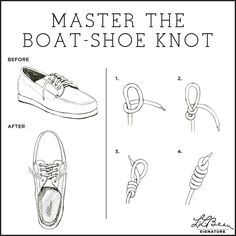 The boat-shoe knot via #LLBeanSignature