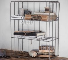 The Farringdon Wall Crate is an easy way to add stylish storage to your home. It can either be wall mounted, or placed on the floor. The simple Metal Storage Shelves, Industrial Wall Shelves, Crate Shelves, Crate Storage, Wall Storage, Extra Storage, Rustic Shelving, Industrial Style, Storage Ideas