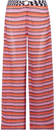 Missoni - Mare Cropped Crochet-knit Wide-leg Pants - Pink