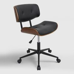 Black Leander Swivel Office Chair  world market