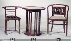 HOFFMANN Josef - A Fledermaus table and chair