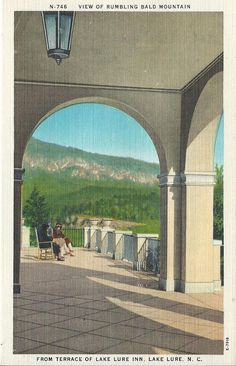 Postcard -LINEN - Lake Lure Inn, North Carolina