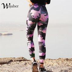 d79ba2338b8383 Women Prints Camo Leggings Push Up Hips Legging Elastic Skinny Workout  Trousers #fashion #clothing
