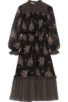 Michael Kors|Floral-print silk-chiffon midi dress|NET-A-PORTER.COM