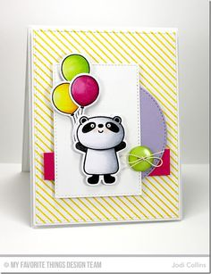 Featuring: Miss Tina Happy Pandas, Miss Tina Happy Pandas Die-namics and Diagonal Stripes Background!