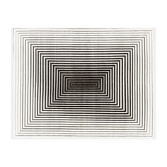 Illulian 'Rehab' rug ($4,560) ❤ liked on Polyvore featuring home, rugs, fabric rug, black area rugs, black rug, white area rug and white rugs
