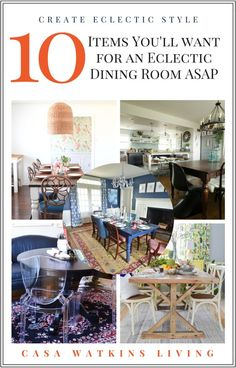 10 items you'll want in your eclectic style dining room!